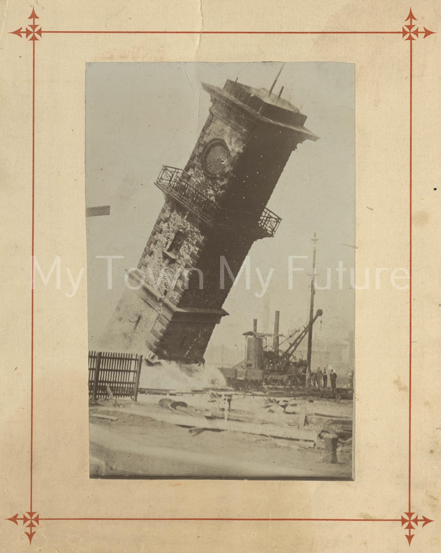 Middlesbrough Dock Demolition Of Clock Tower
