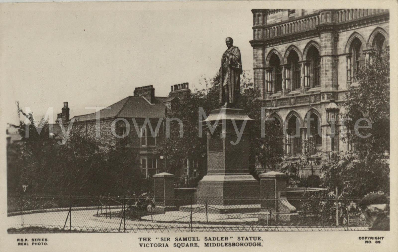 Victoria Square Sir Samuel Sadler Statue