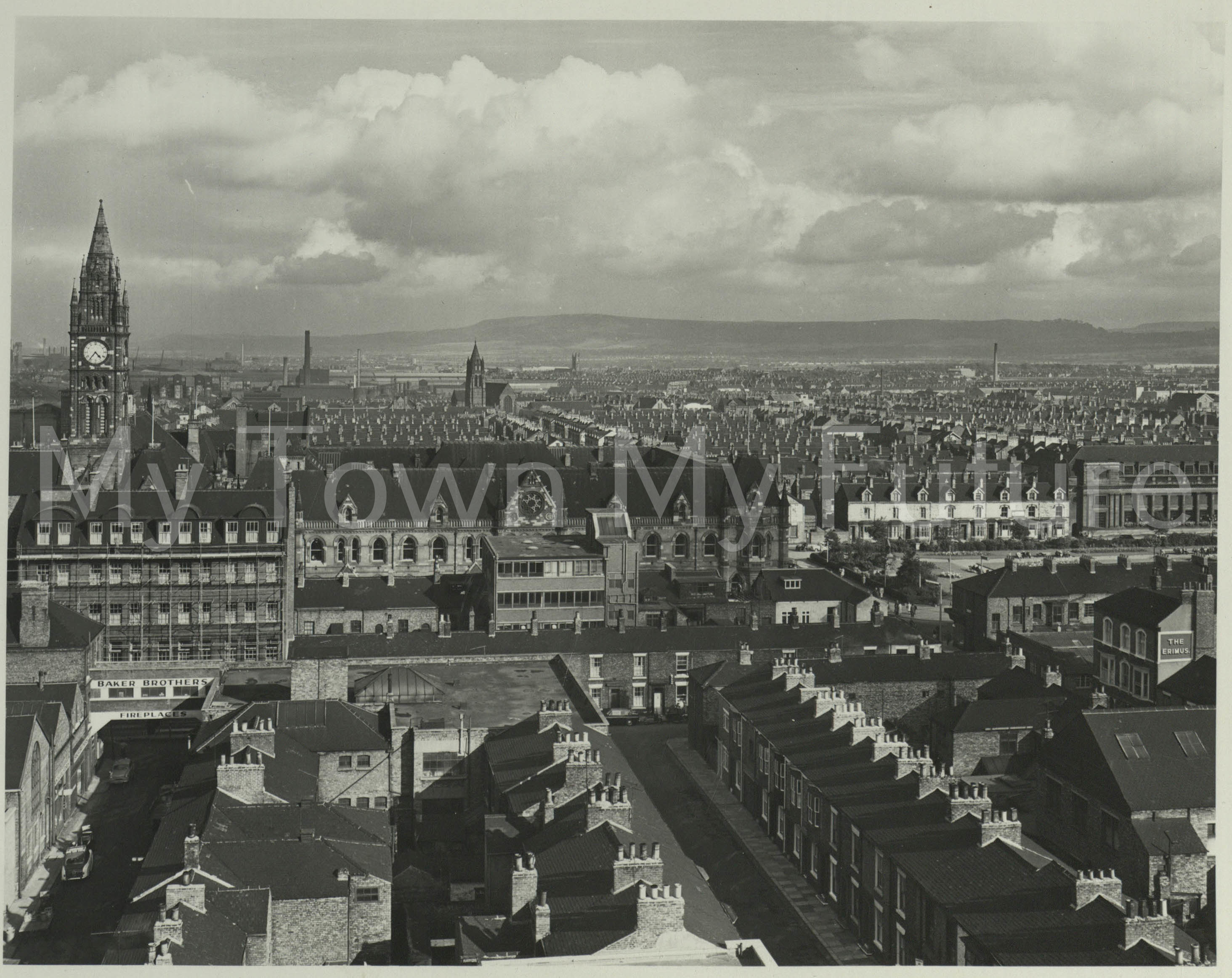 Middlesbrough View From Top Of Binns, 1960, Department of Planning - Cleveland County Council