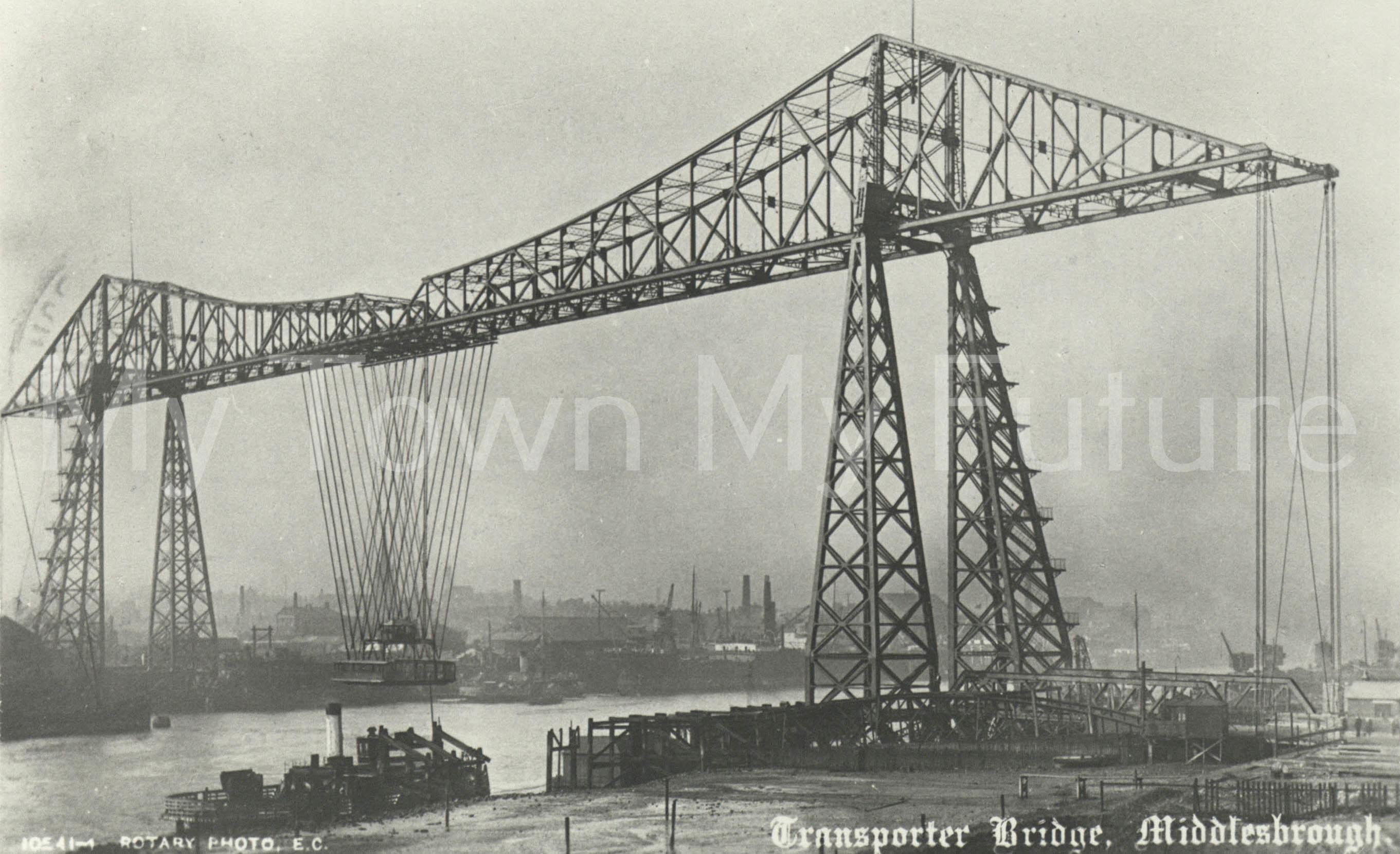 Transporter Bridge Shortly after Complettion c June July 1911