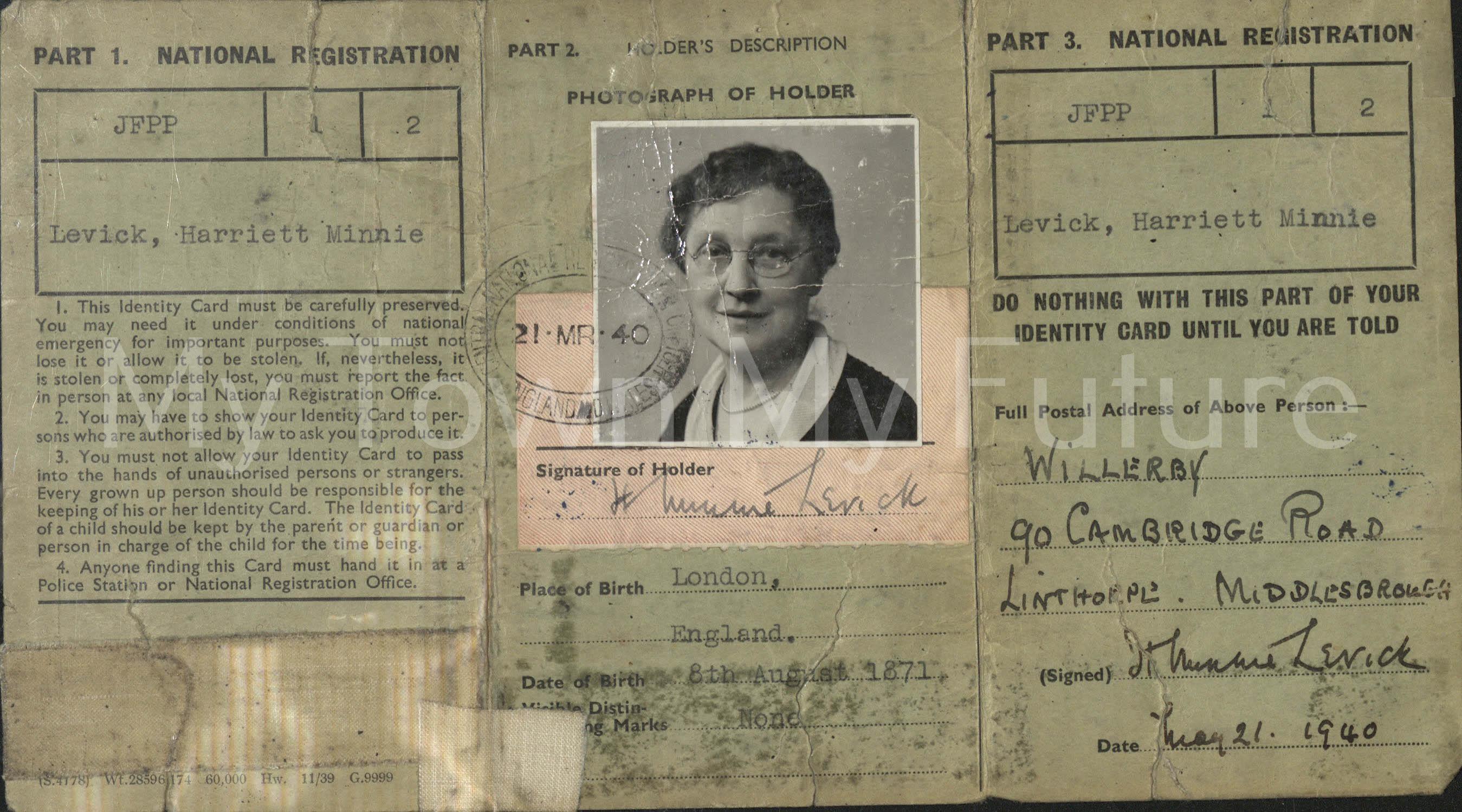Harriet Minnie Levick 1940