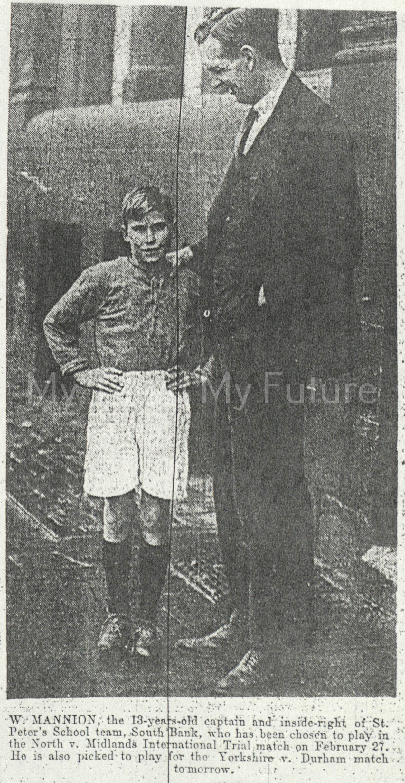 Wilf Mannion_12 Feb 1932_North Eastern Daily Gazette