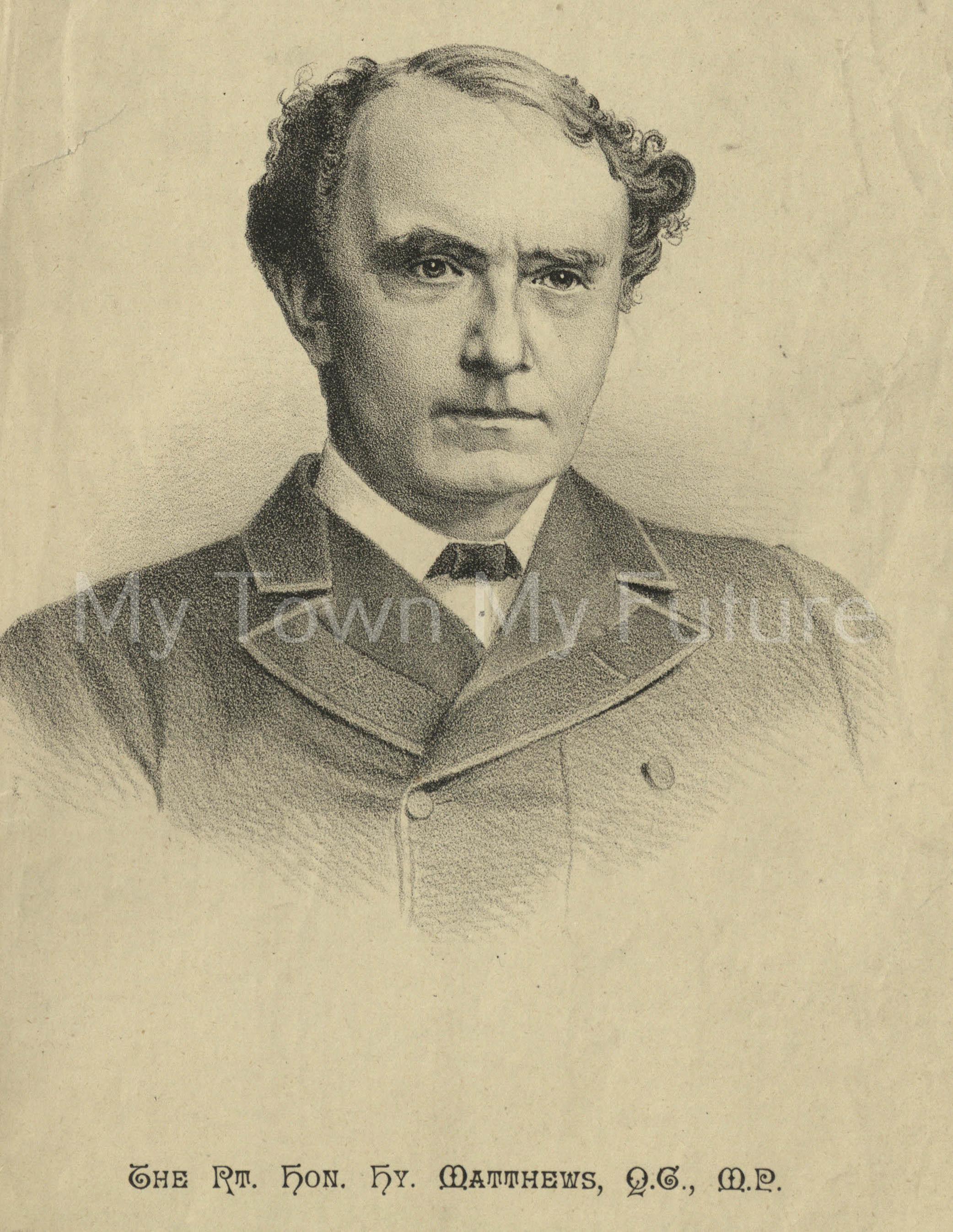 Rt Hon Hy Matthews Q.C M.P_10th September 1887_Northern Review