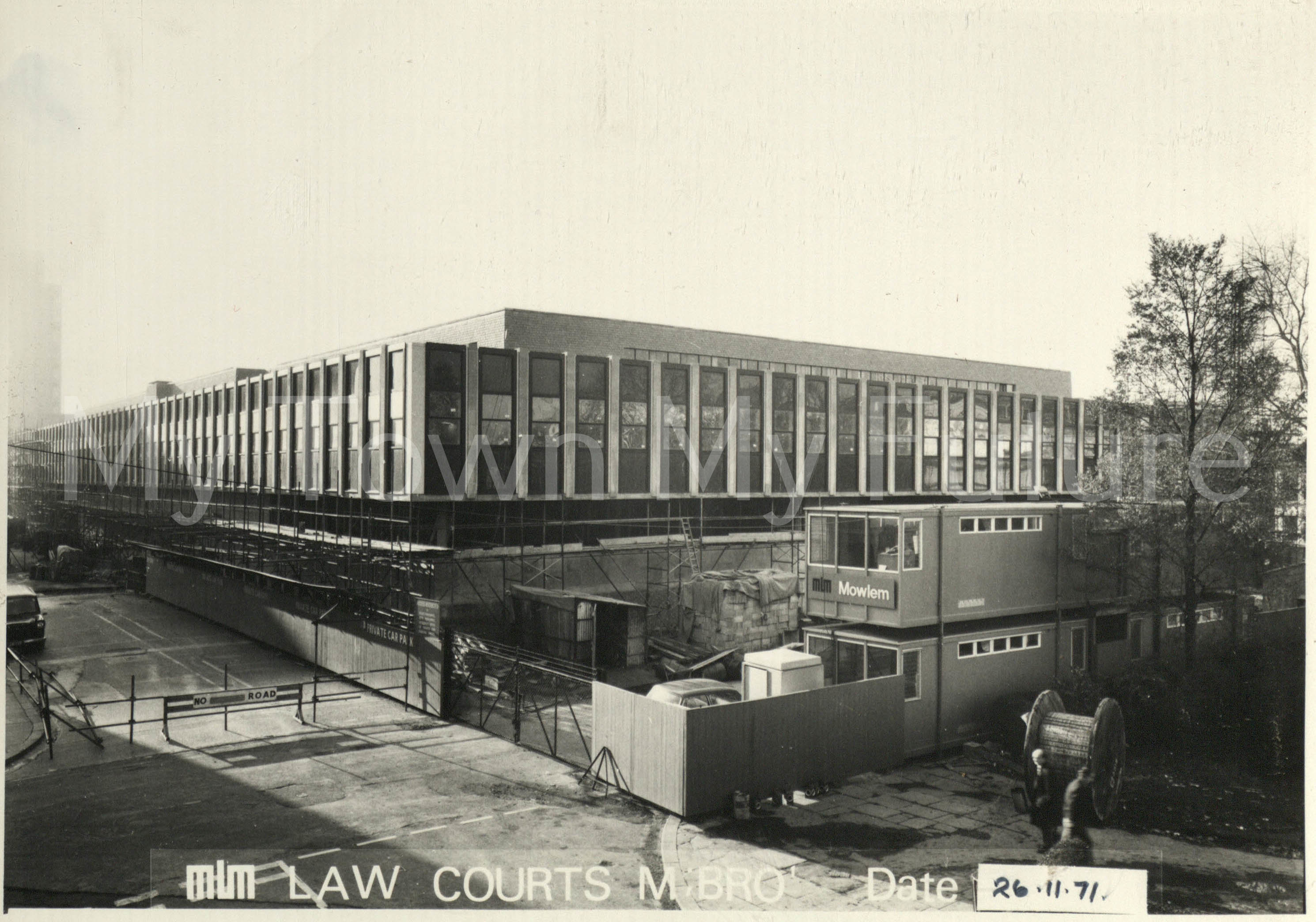 Law Courts (Opened in October 1972), 26th November 1971 - Phillopson Studies- 18 Borough Road West - Middlesbrough