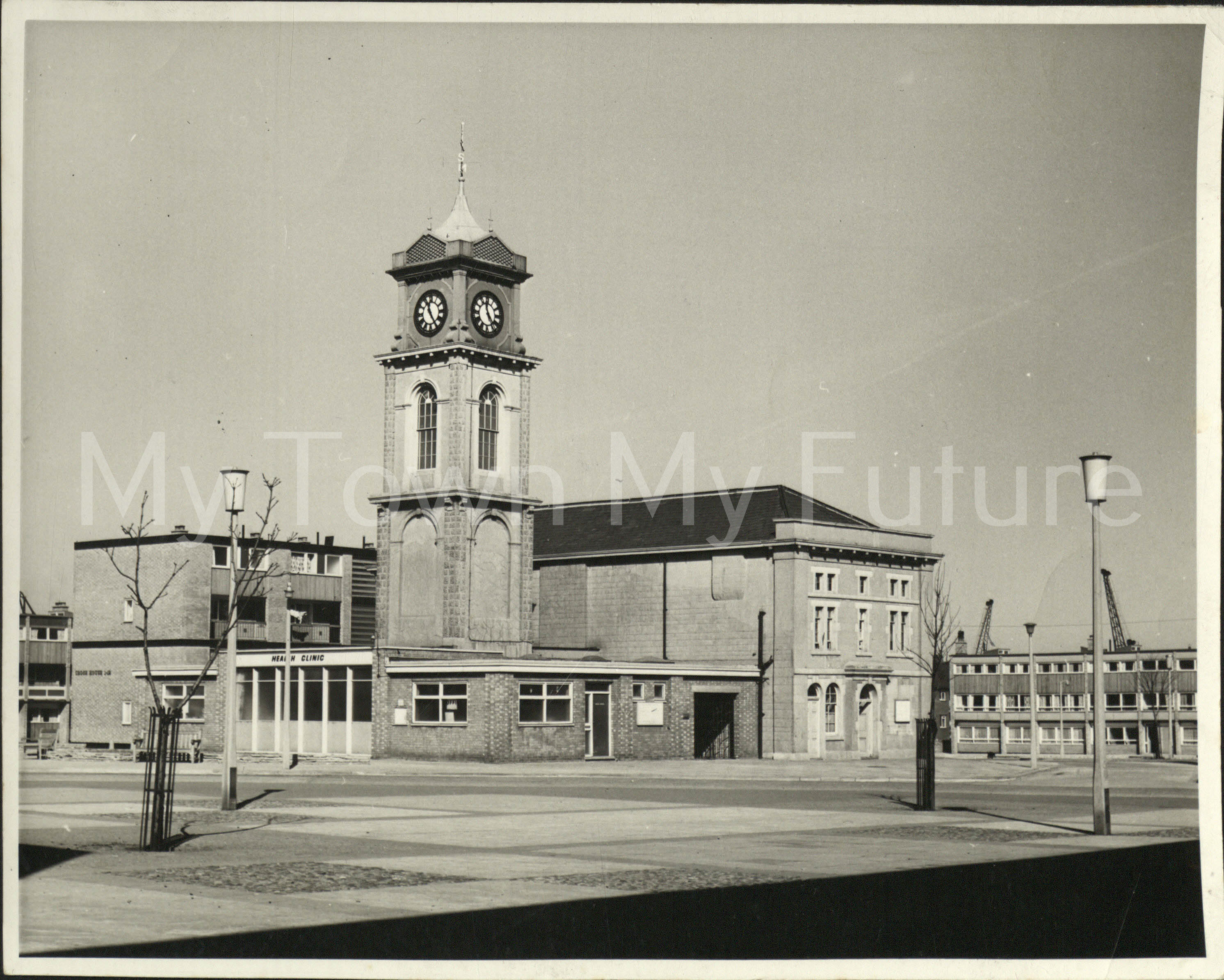 Old Town Hall - Market Hall or Place, Library and Health Clinic - 18th March 1966, Borough Engineers Department