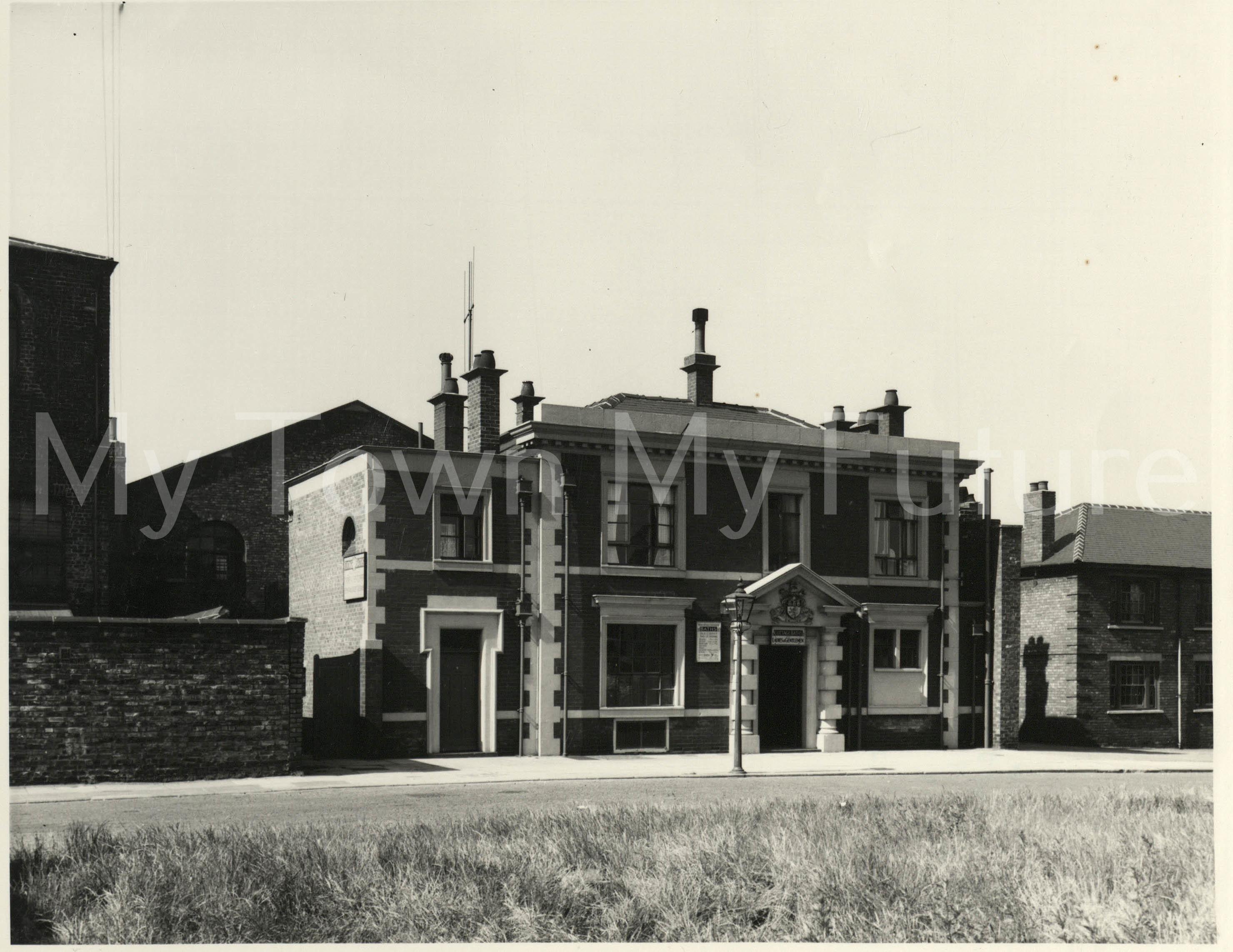 Dacre Street Baths, 1955 - Borough Engineers Department
