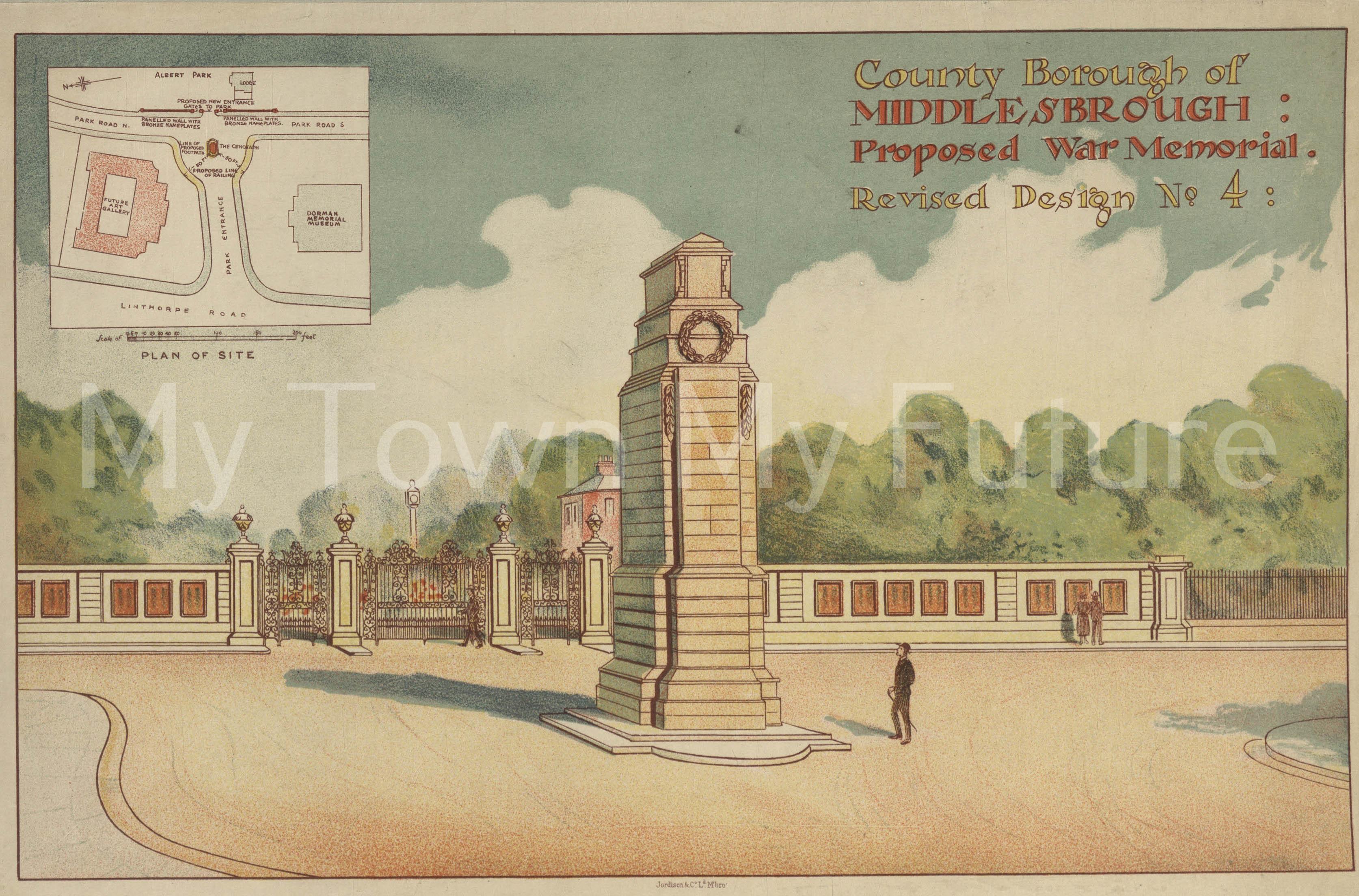 Middlesbrough Cenotaph - Middlesbrough Public Libraries