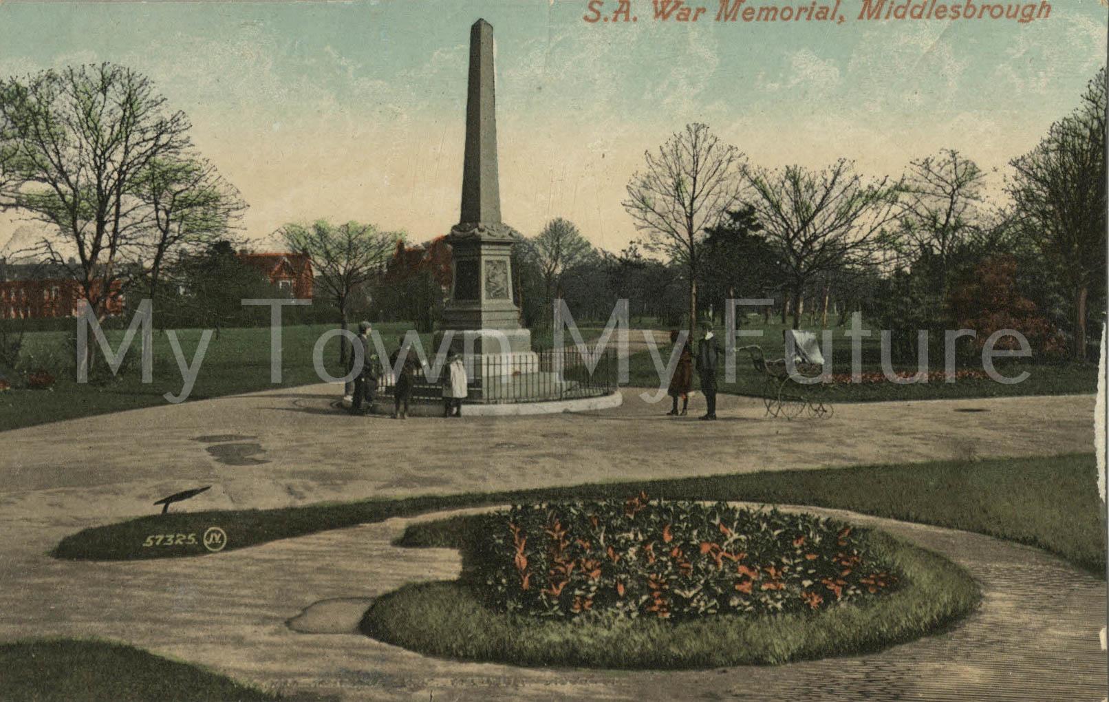 War Memorial Boer War - Valentine Series - Dundee