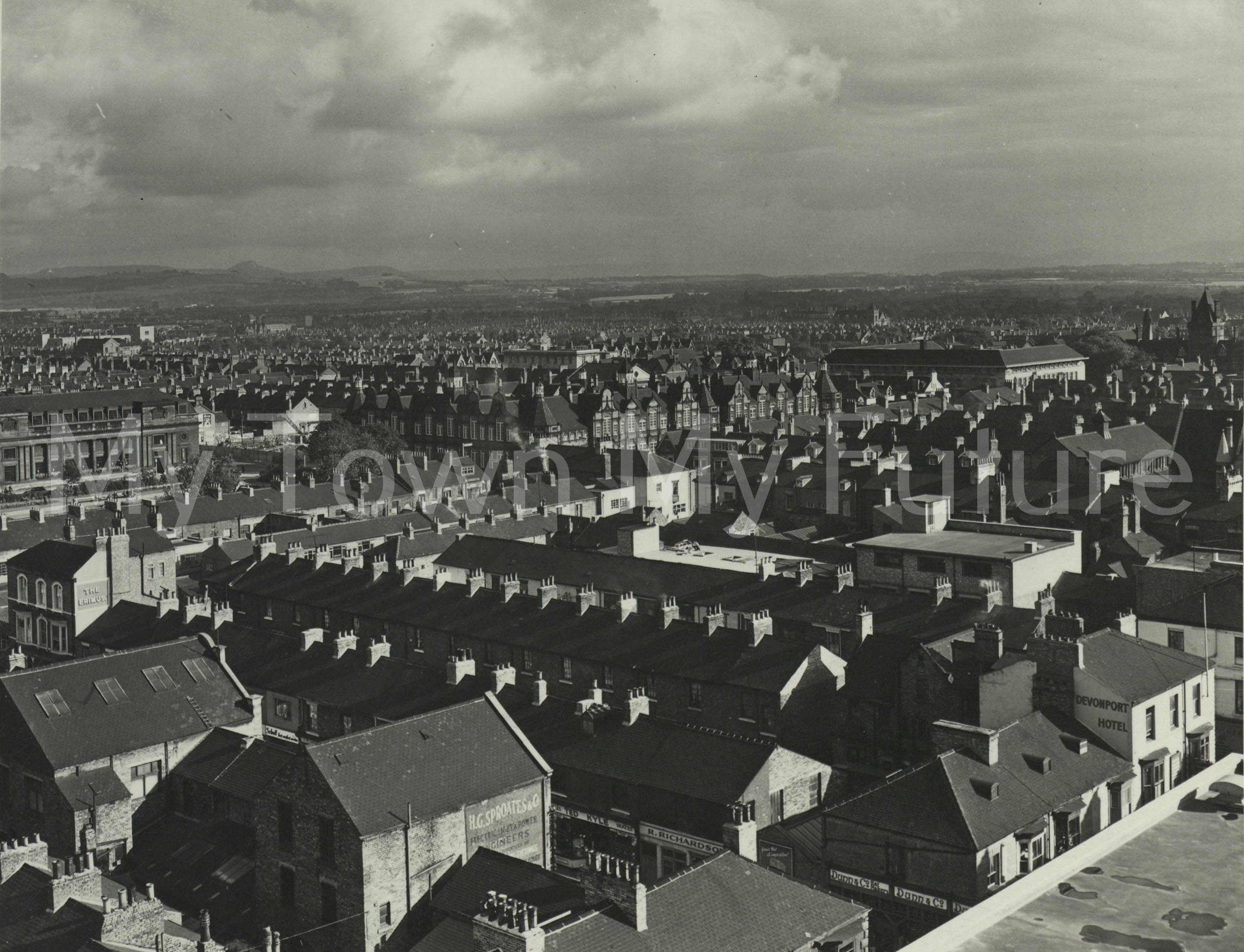 Middlesbrough View From Top Of Binns 1960