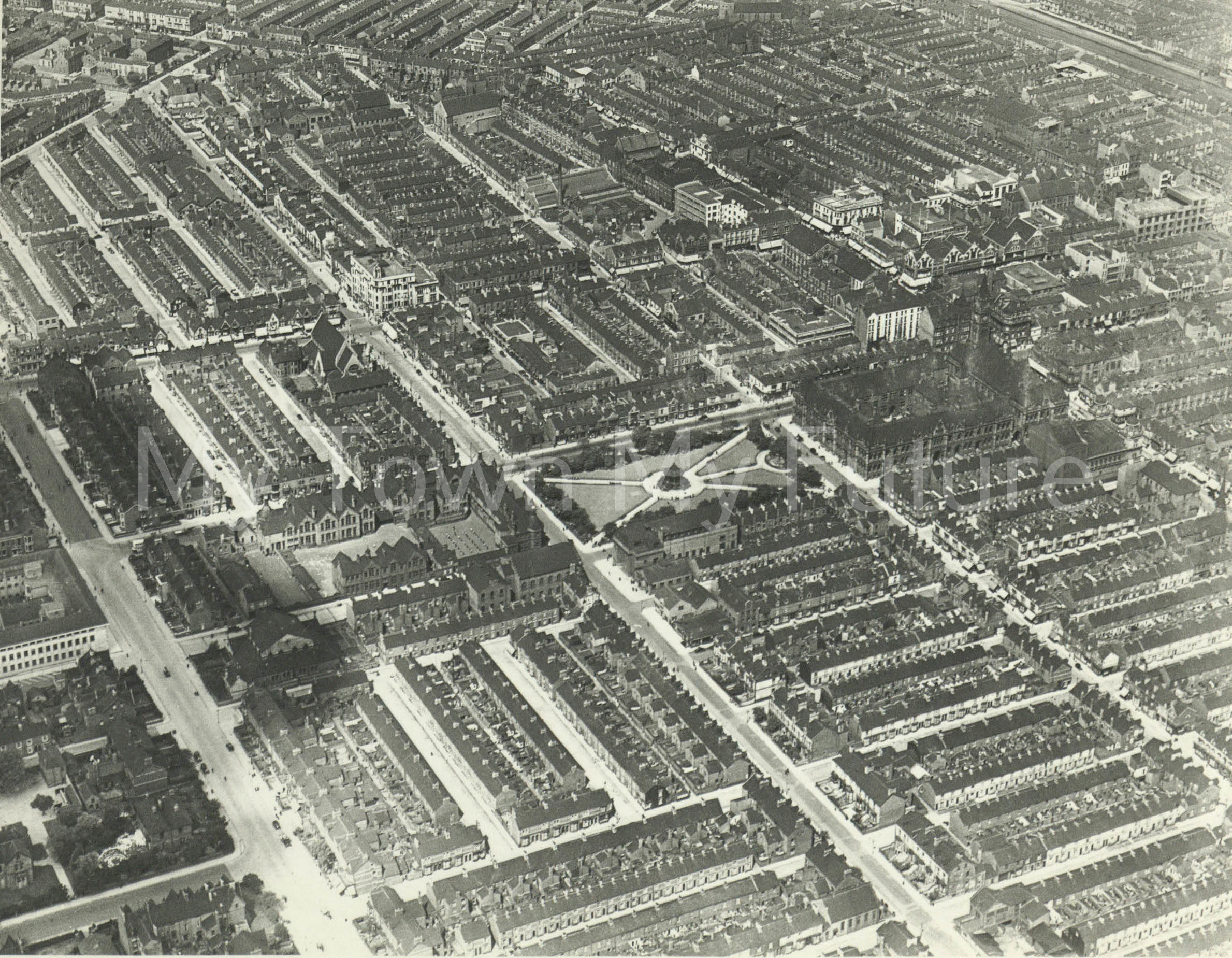 Middlesbrough Town Centre (1940).