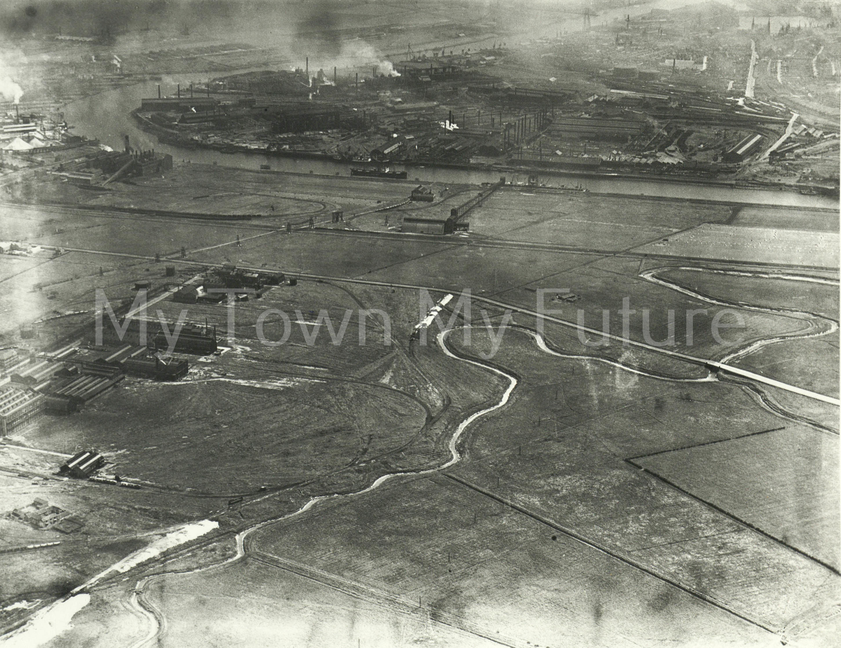 Middlesbrough River Tees (1950).