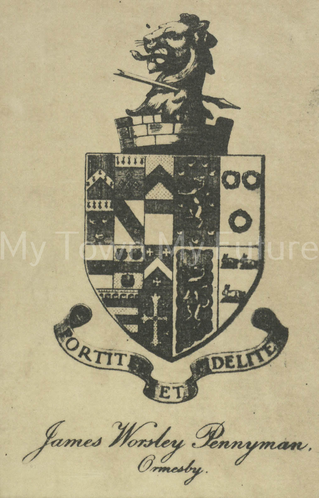 Coat Of Arms Of James Worsley Pennyman