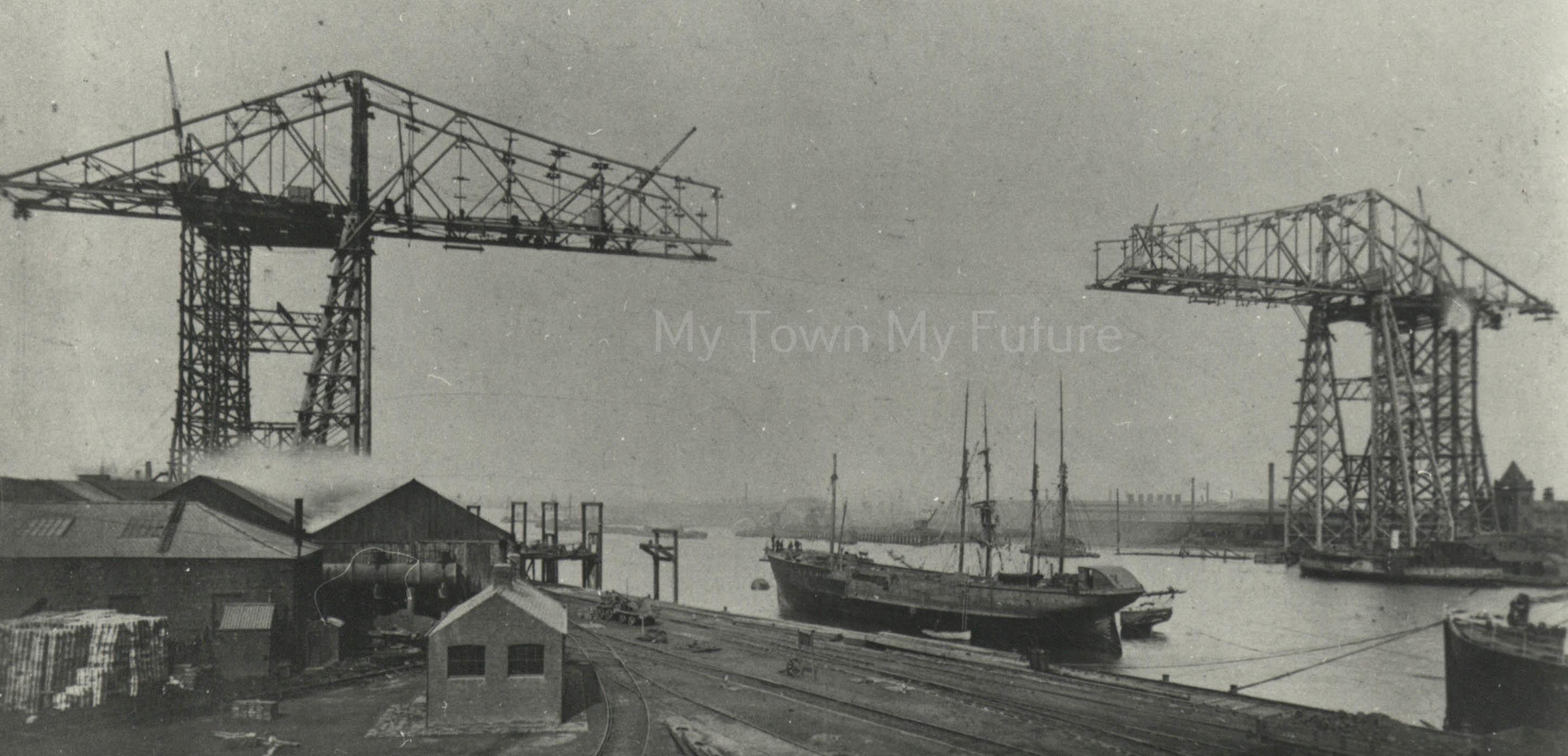 Transporter Bridge - Under Construction, 1911, Department of Planning - Cleveland County Council
