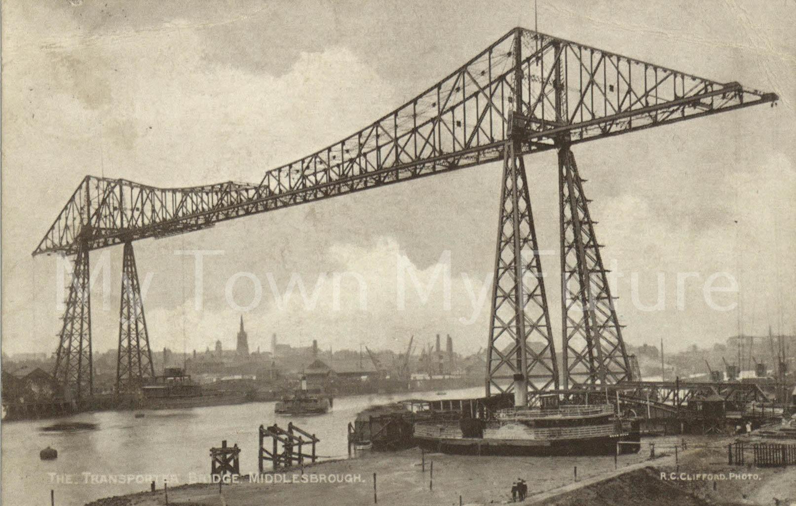 Transporter Bridge Postcard Postmarked 10th July 1912