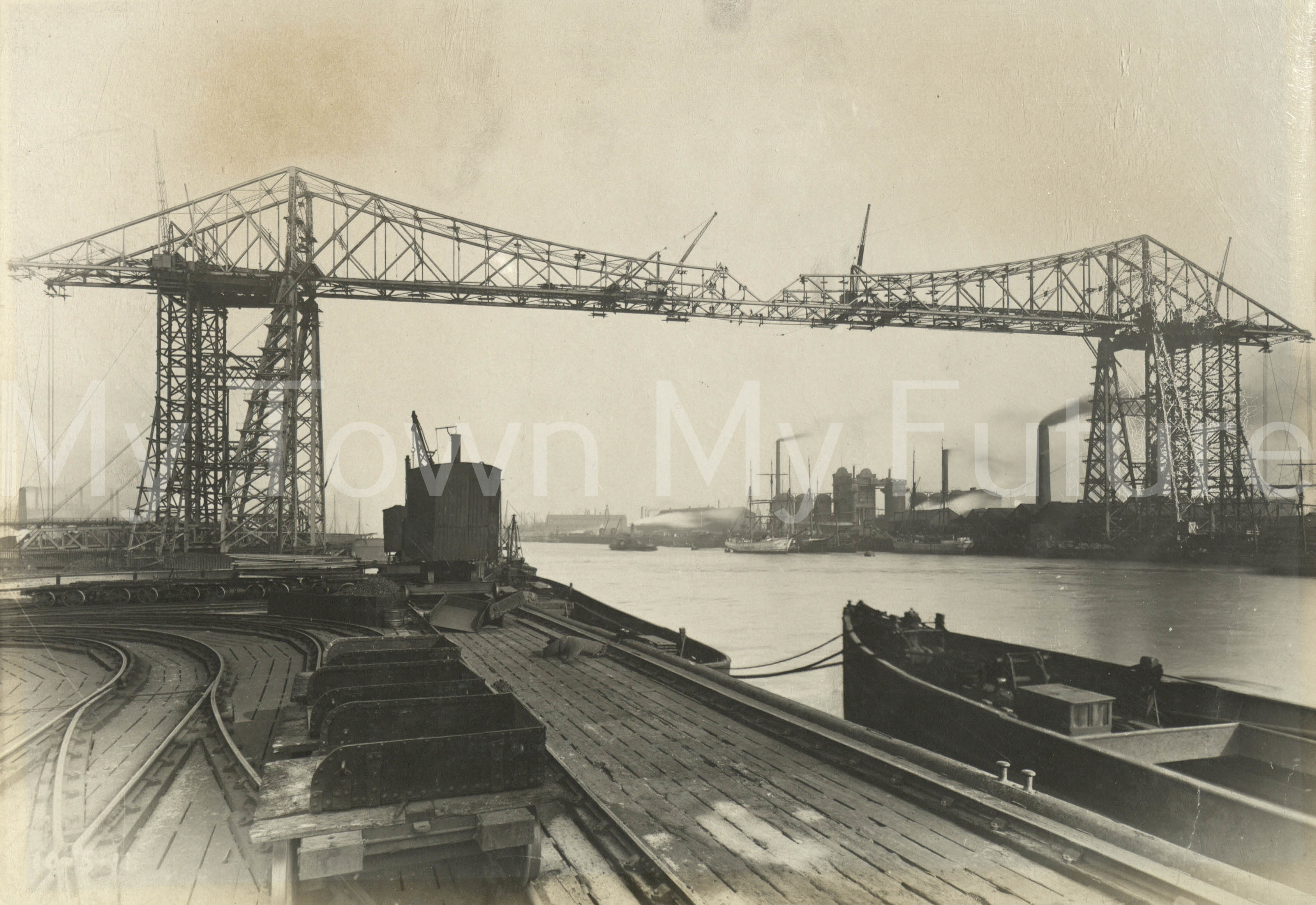 Transporter Bridge Very near Completion 10th May 1911