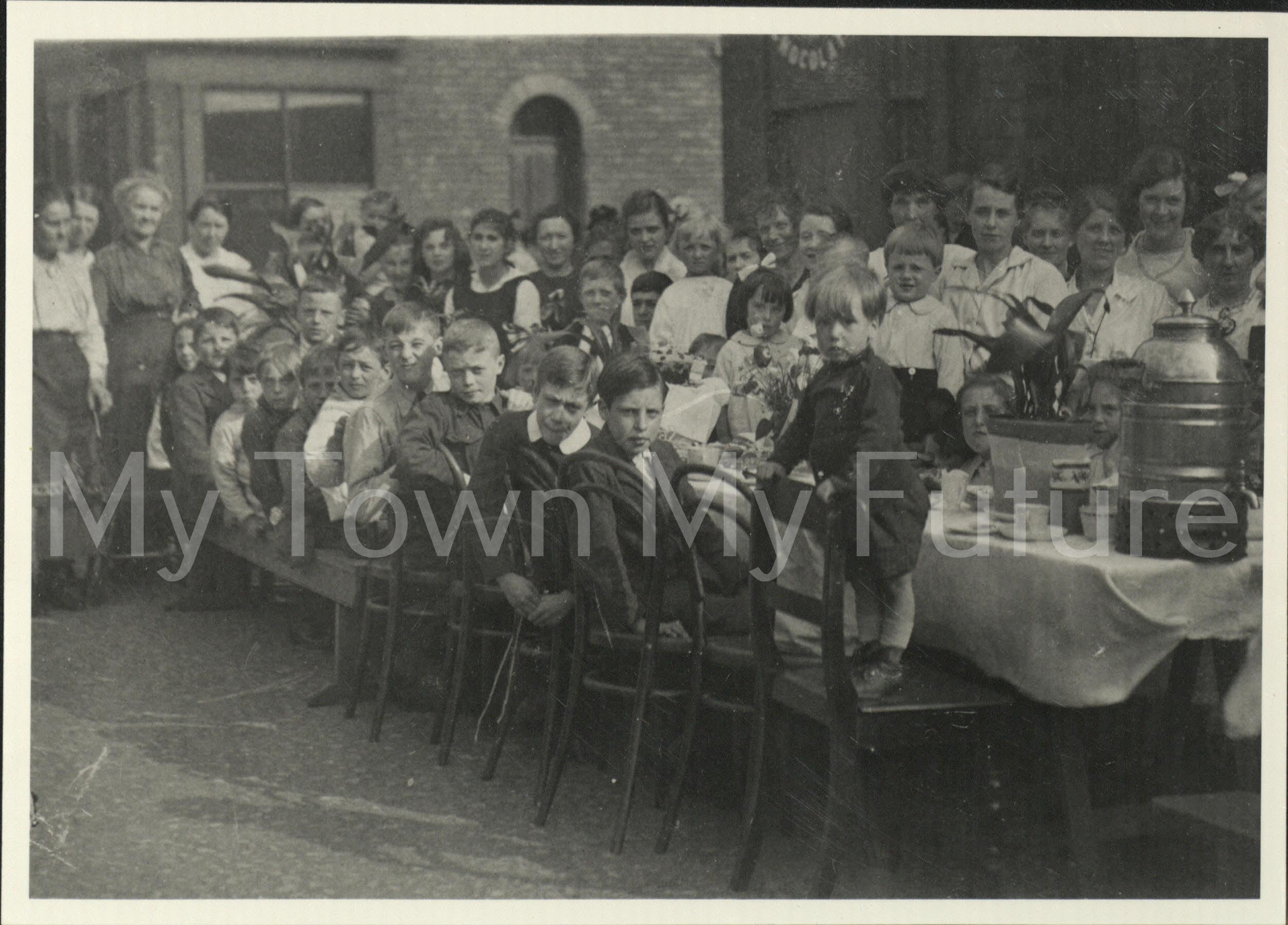 World War 1 - Peace Tea - Peace Celebrations - Garnet Street, 1919, Beamish Museum - Stanley