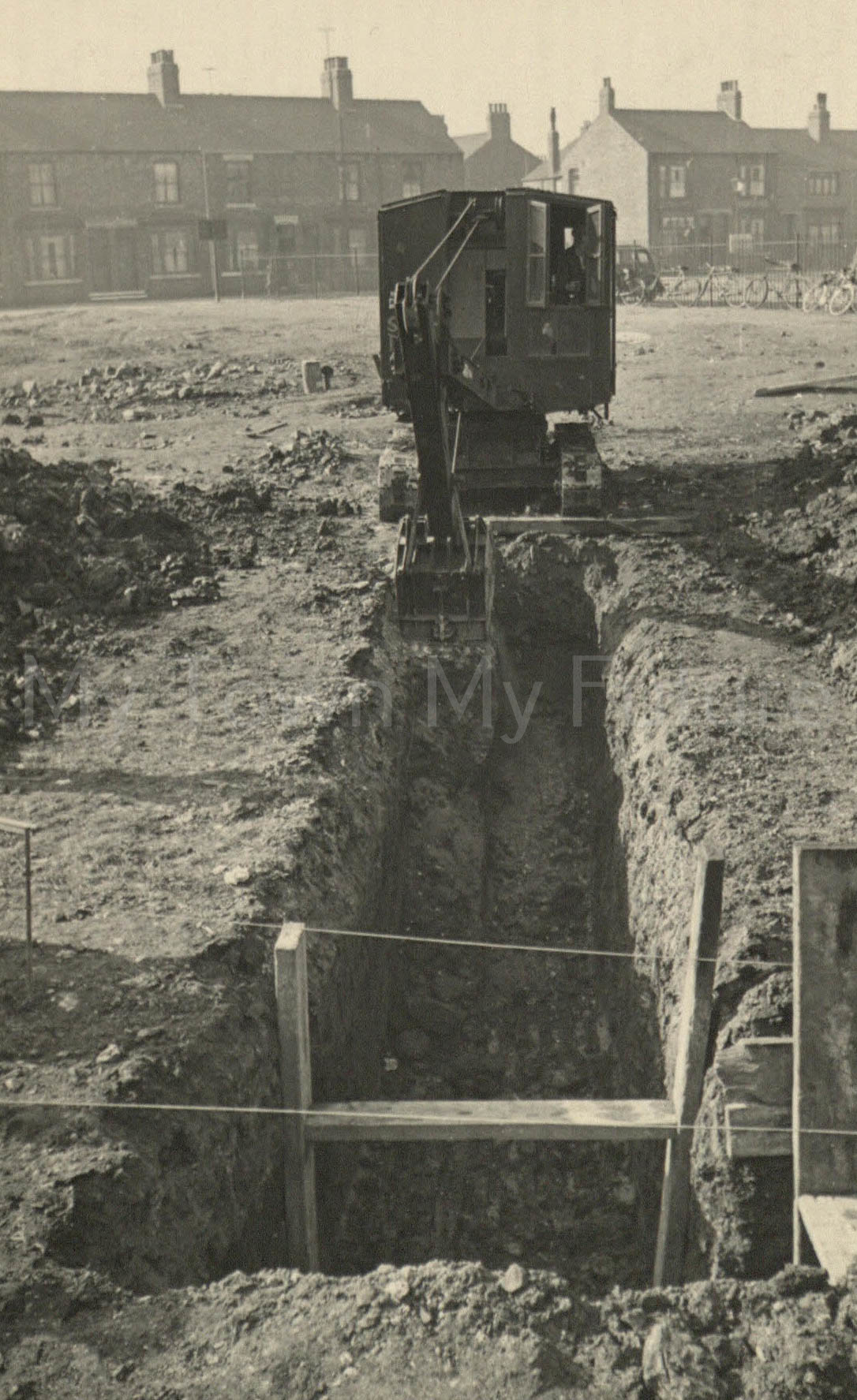 Excavating near the Tramways Depot