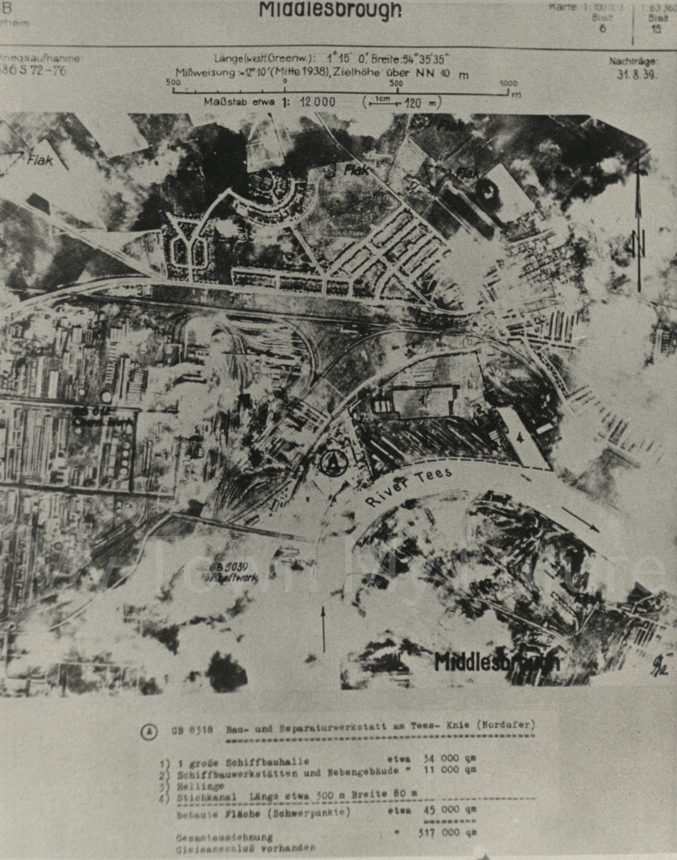 World War II,German Aerial Reconnaisance Maps