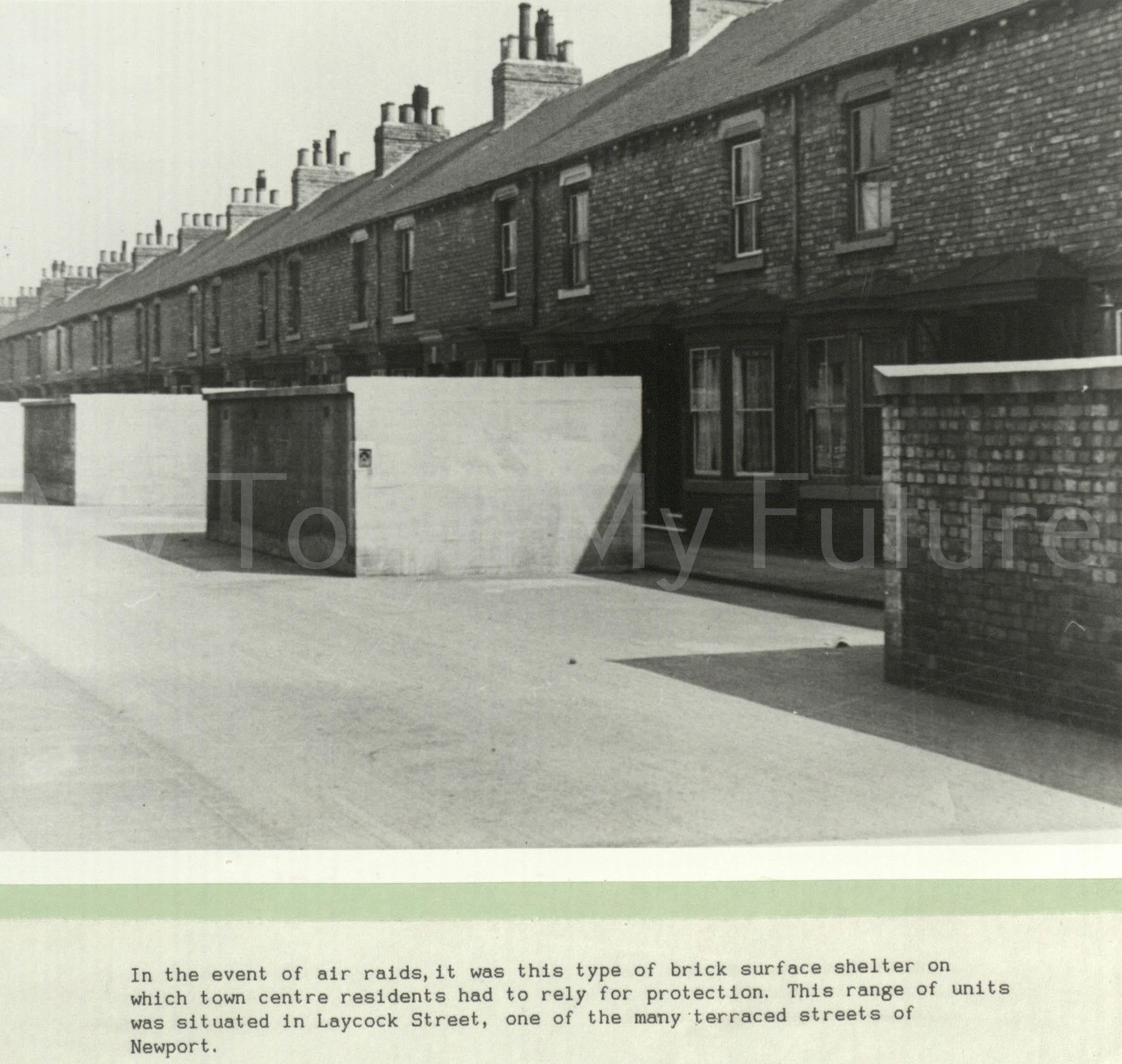 World War II,Brick Surface Shelters,Laycock Street