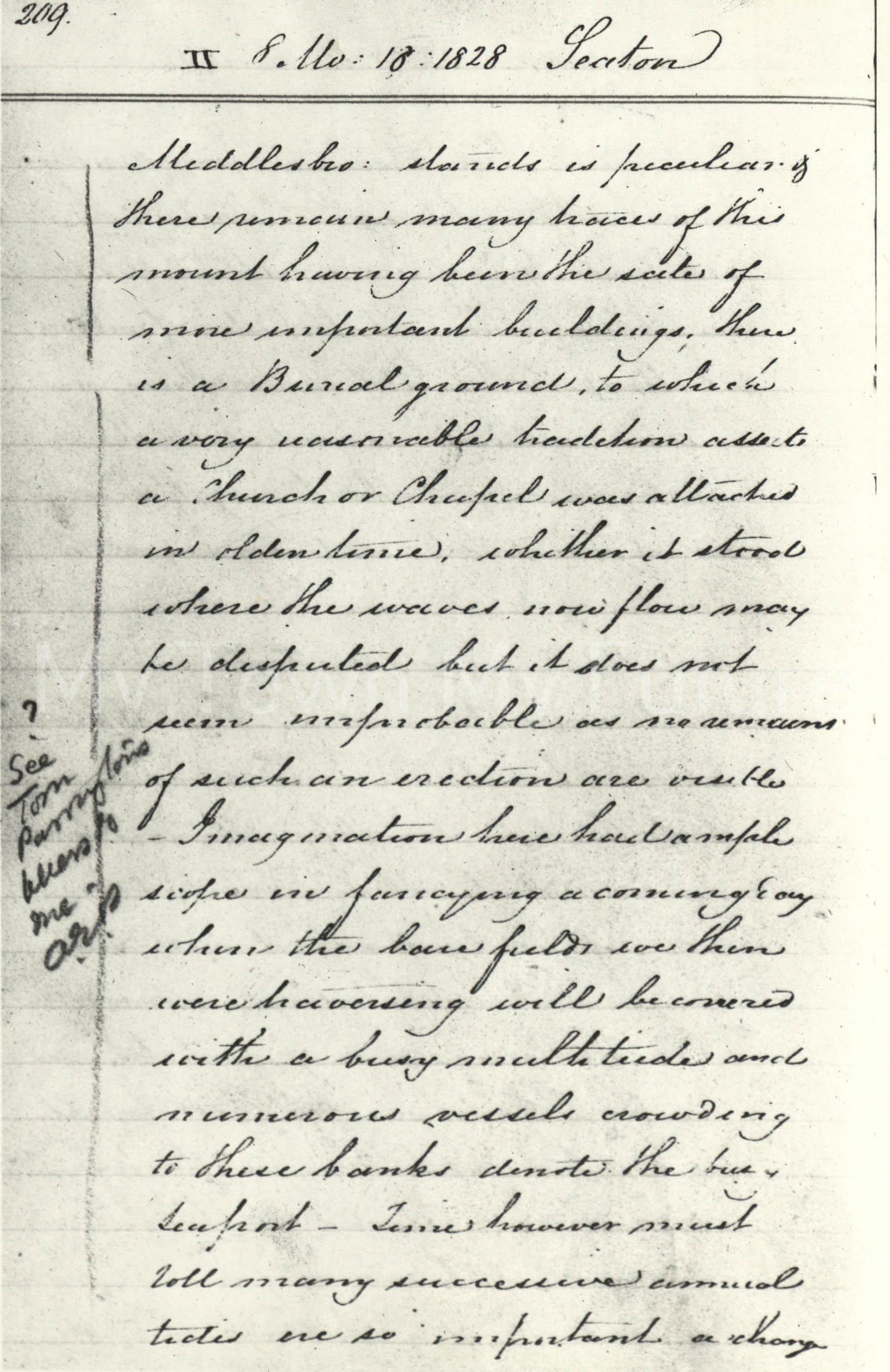 Edward Pease Document, 1828