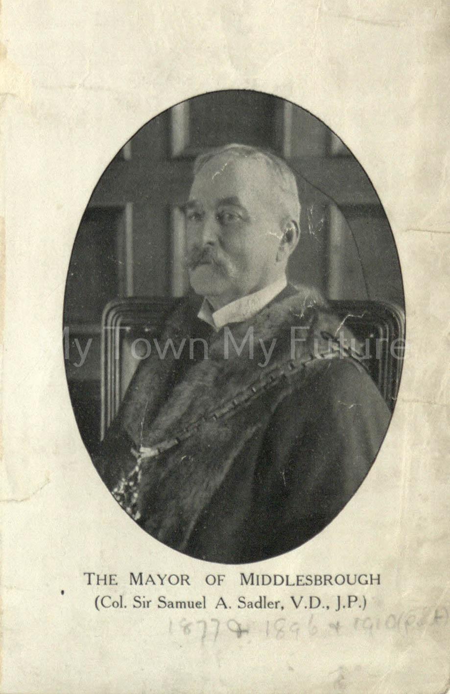 Samuel Sadler, Mayor of Middlesbrough