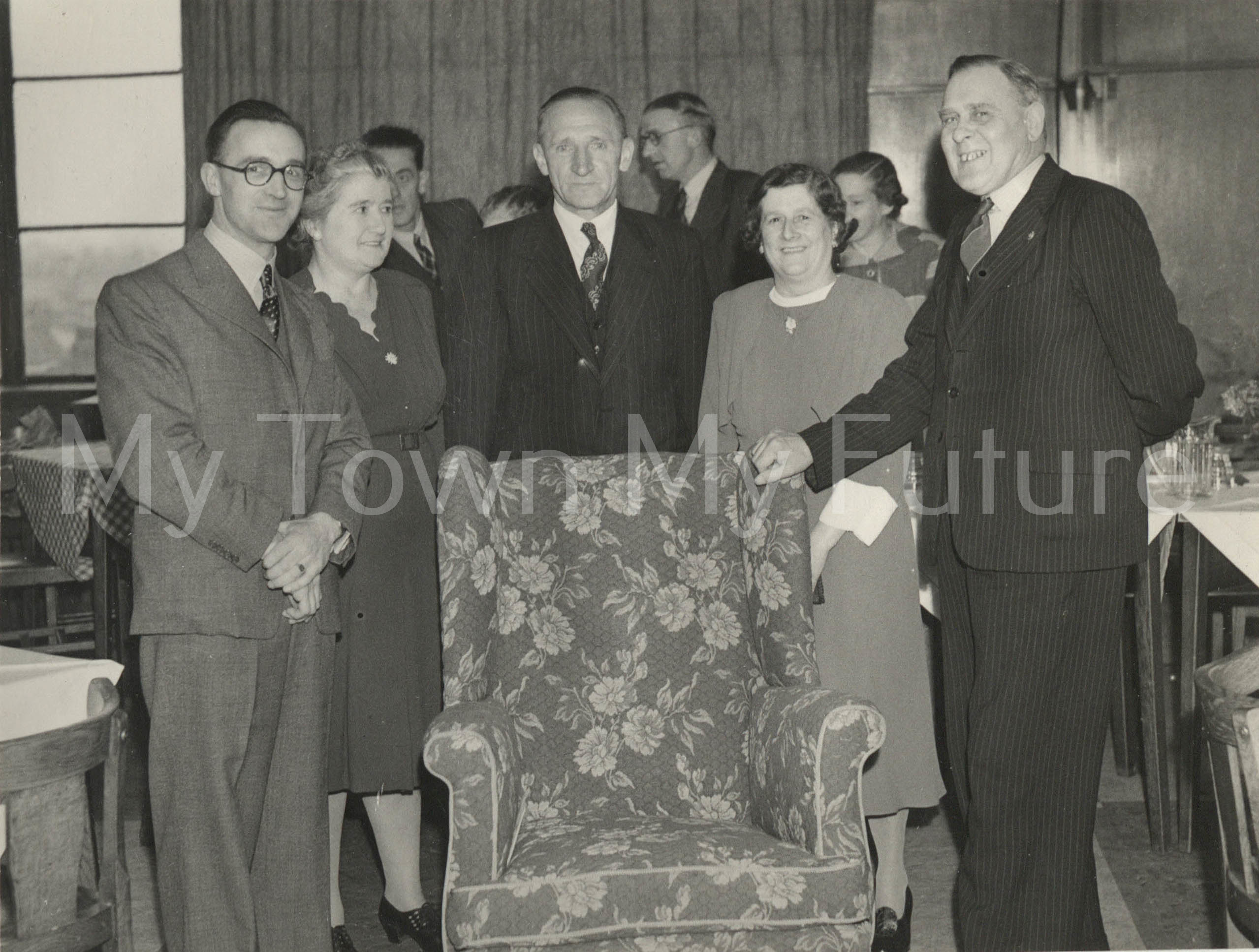 Central Library presentation of retirement chair 1951