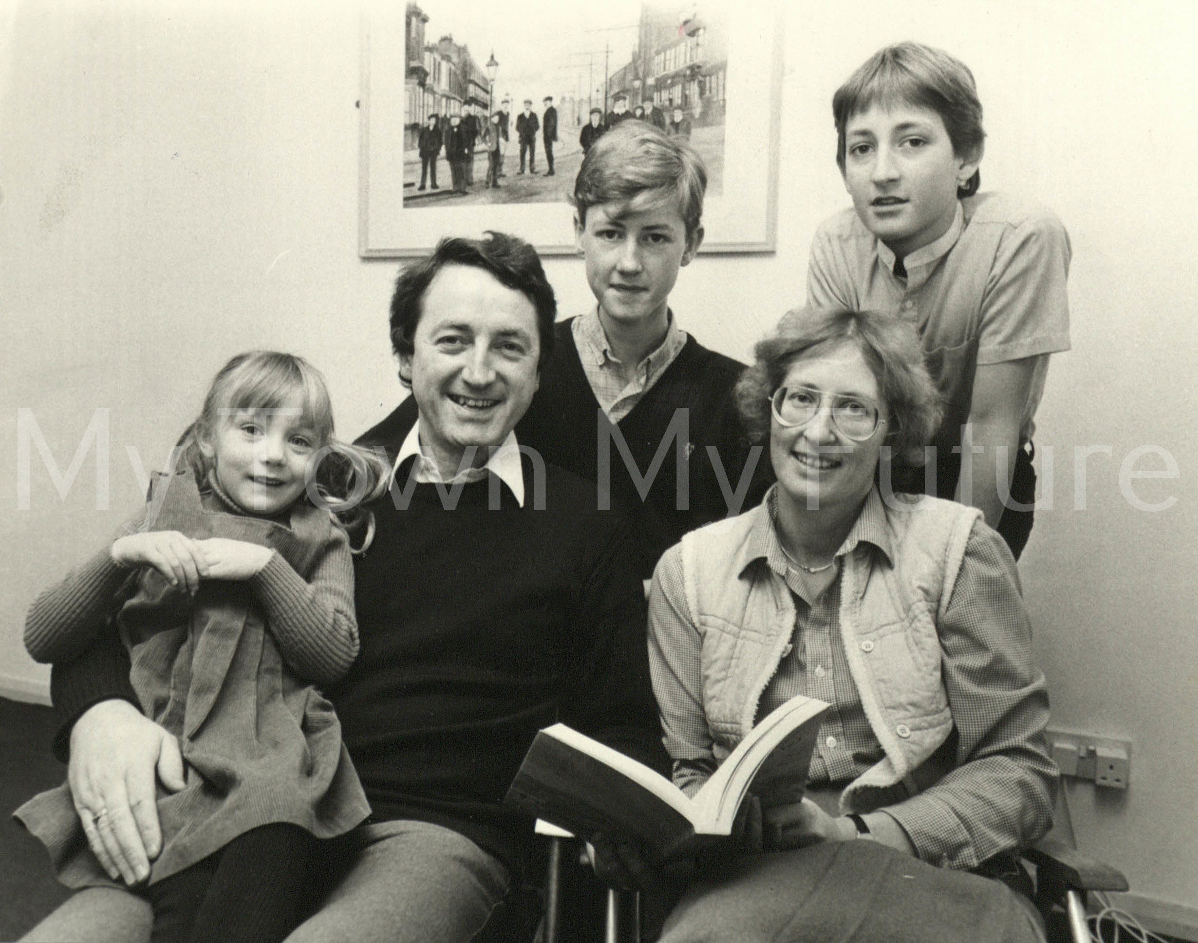 Ian Wrigglesworth M.P. and Family, 7th January 1984 - The Times