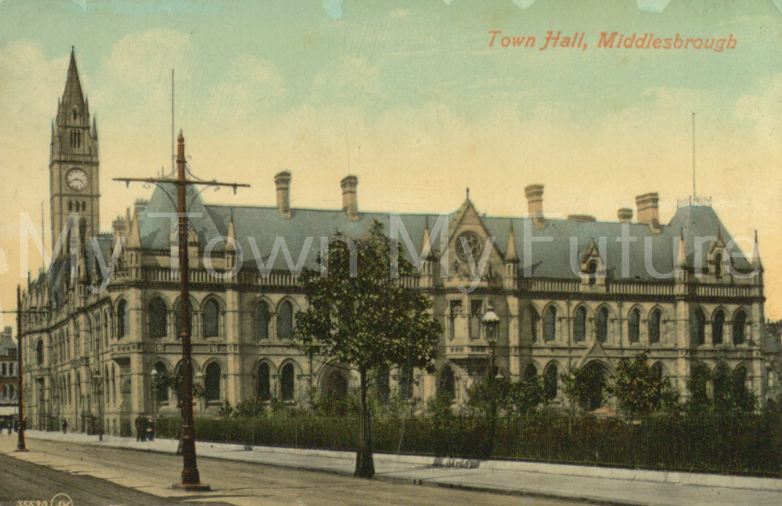 New Town Hall Postcard c1900