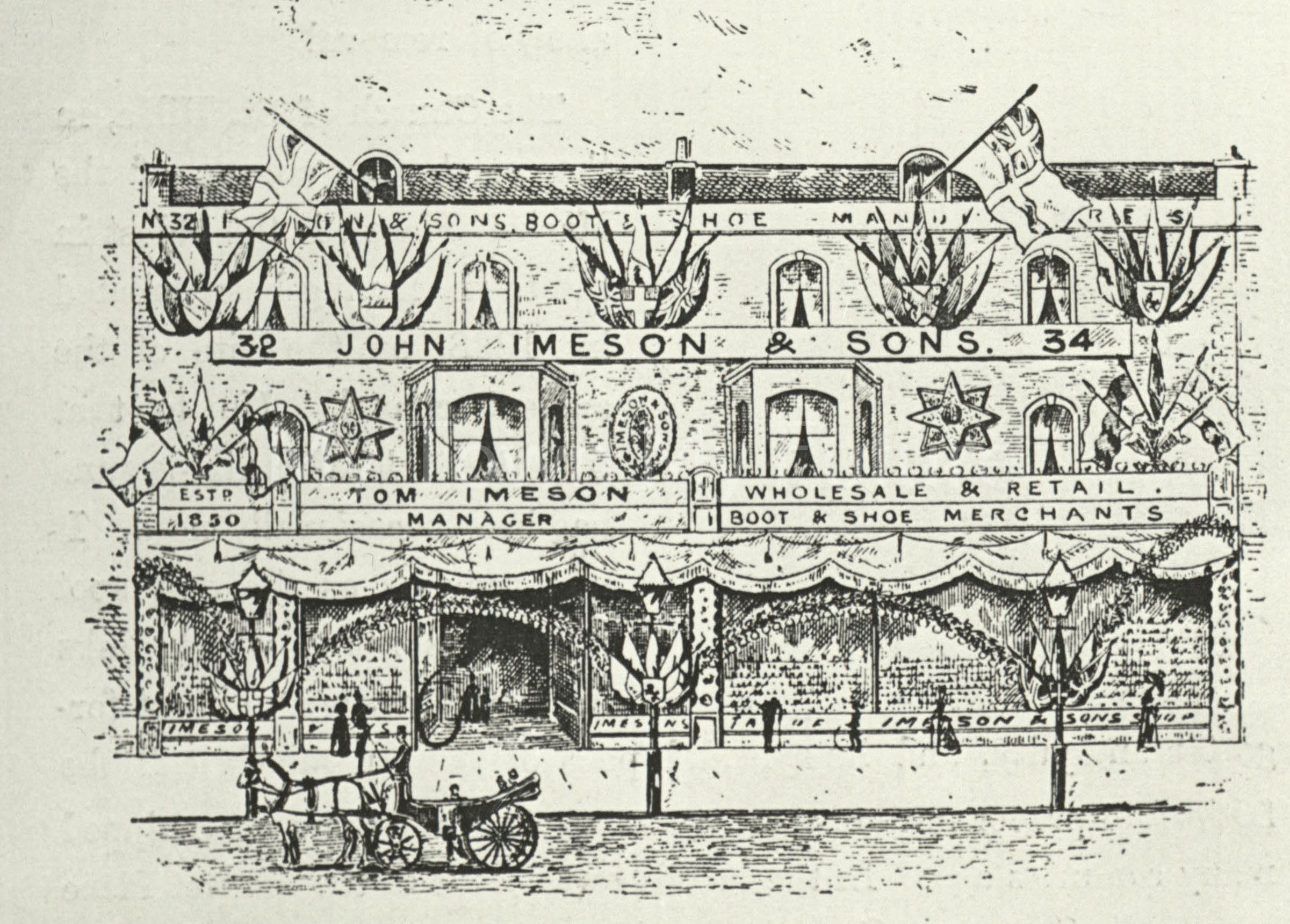 John Imeson and Sons Store, Sussex Street, St Hilda's c1889