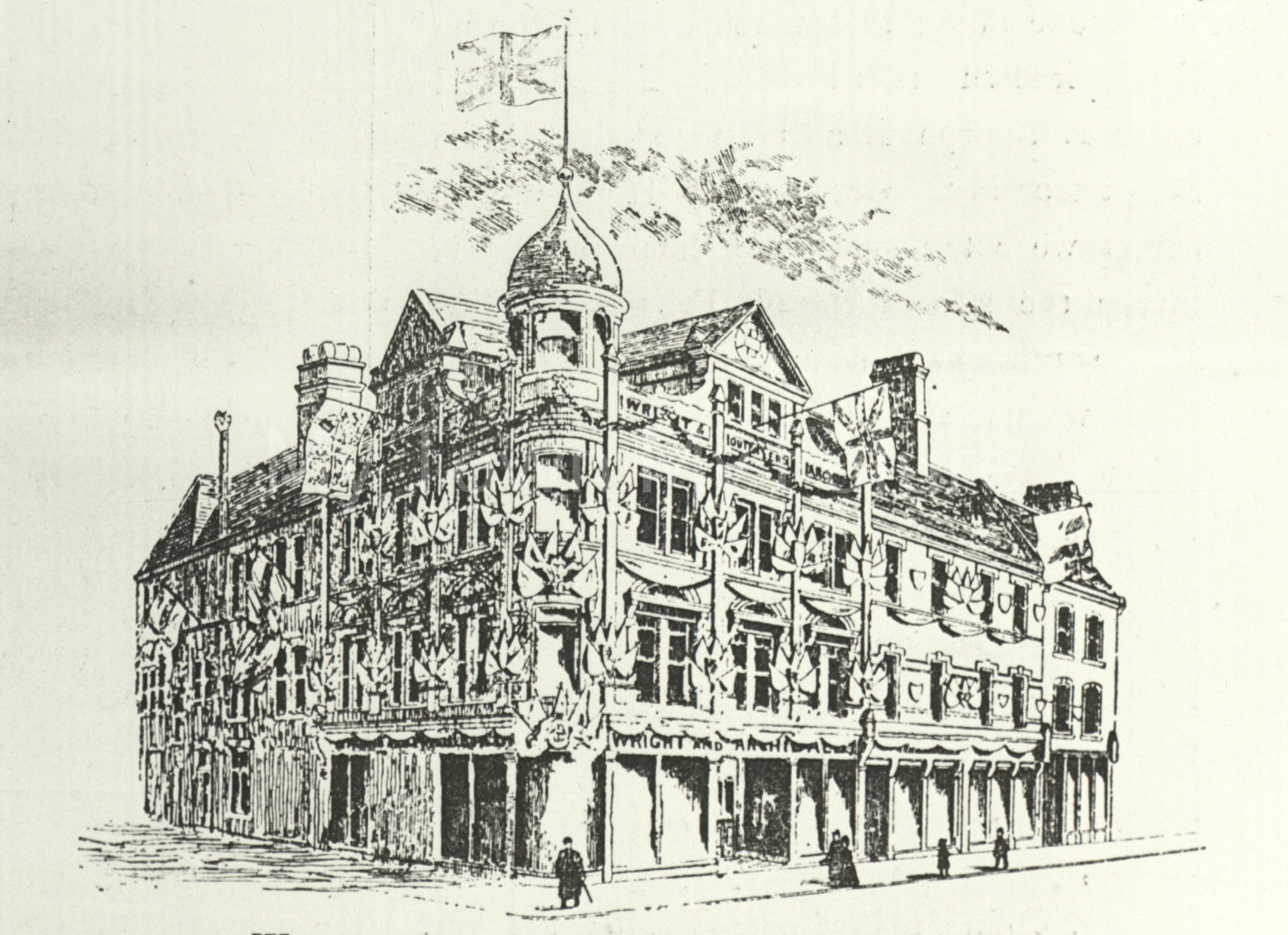 Wright and Archibalds, Sussex Street, St. Hilda's c1889