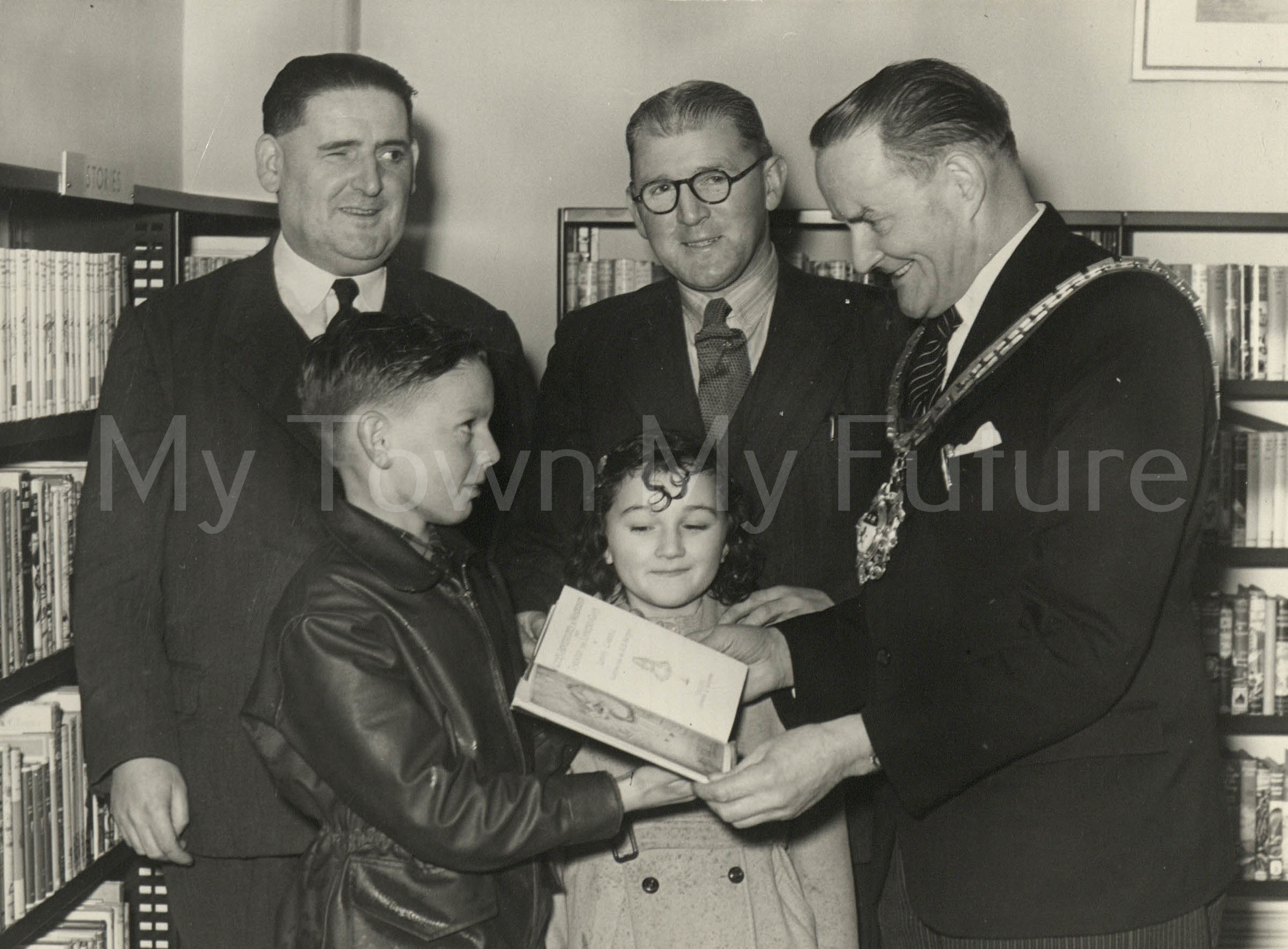 Market Place Library Opening, 1954, Middlesbrough Public Libraries