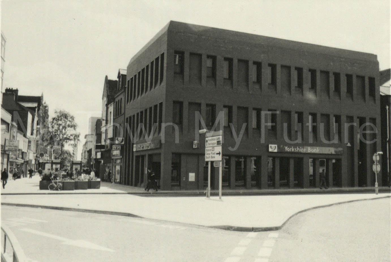 Yorkshire Bank at corner of Wilson Street and Linthorpe Road.