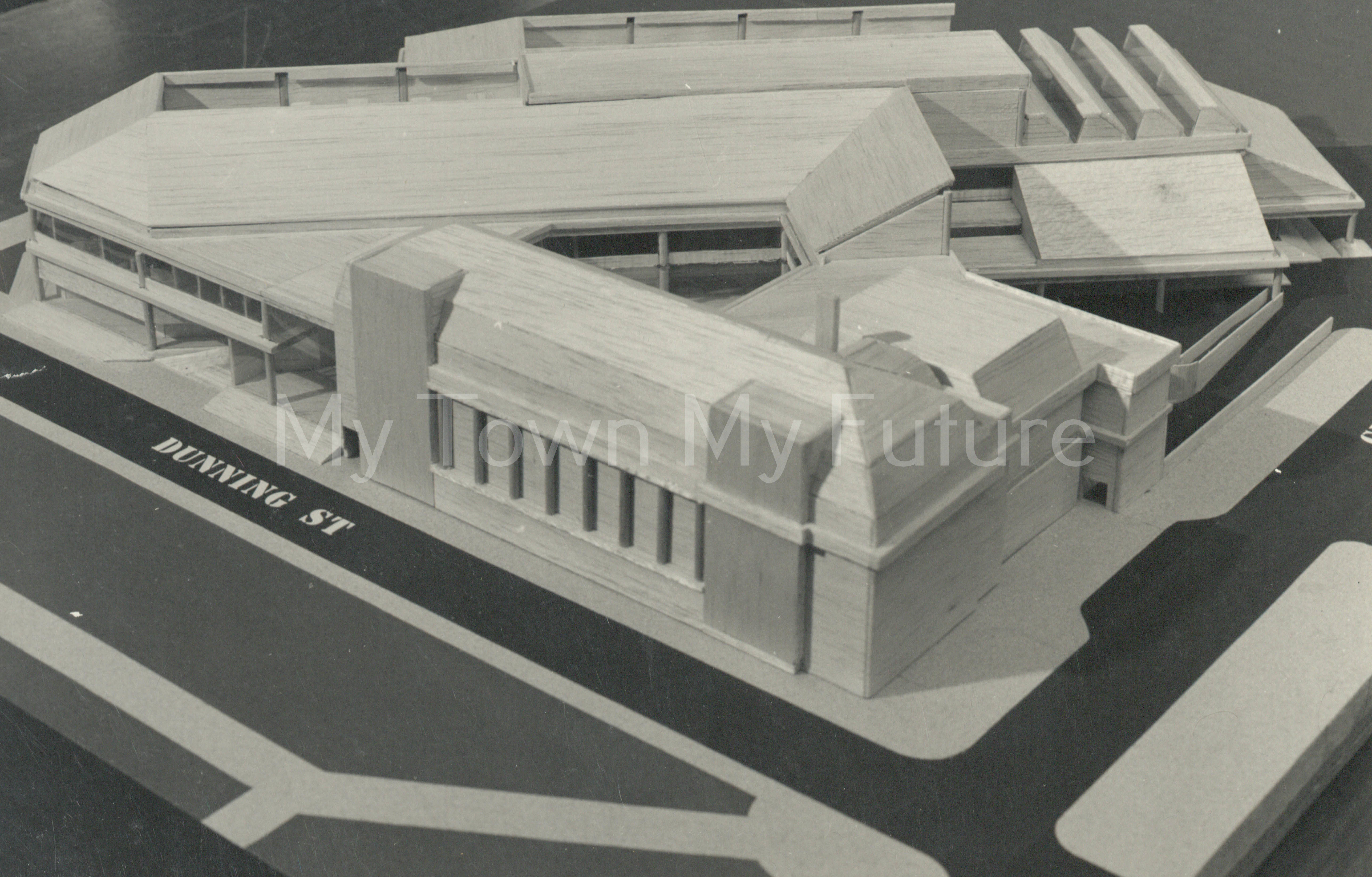 Central Library extension model of proposed redevelopment, 1980 - Department of Planning - Cleveland County Council