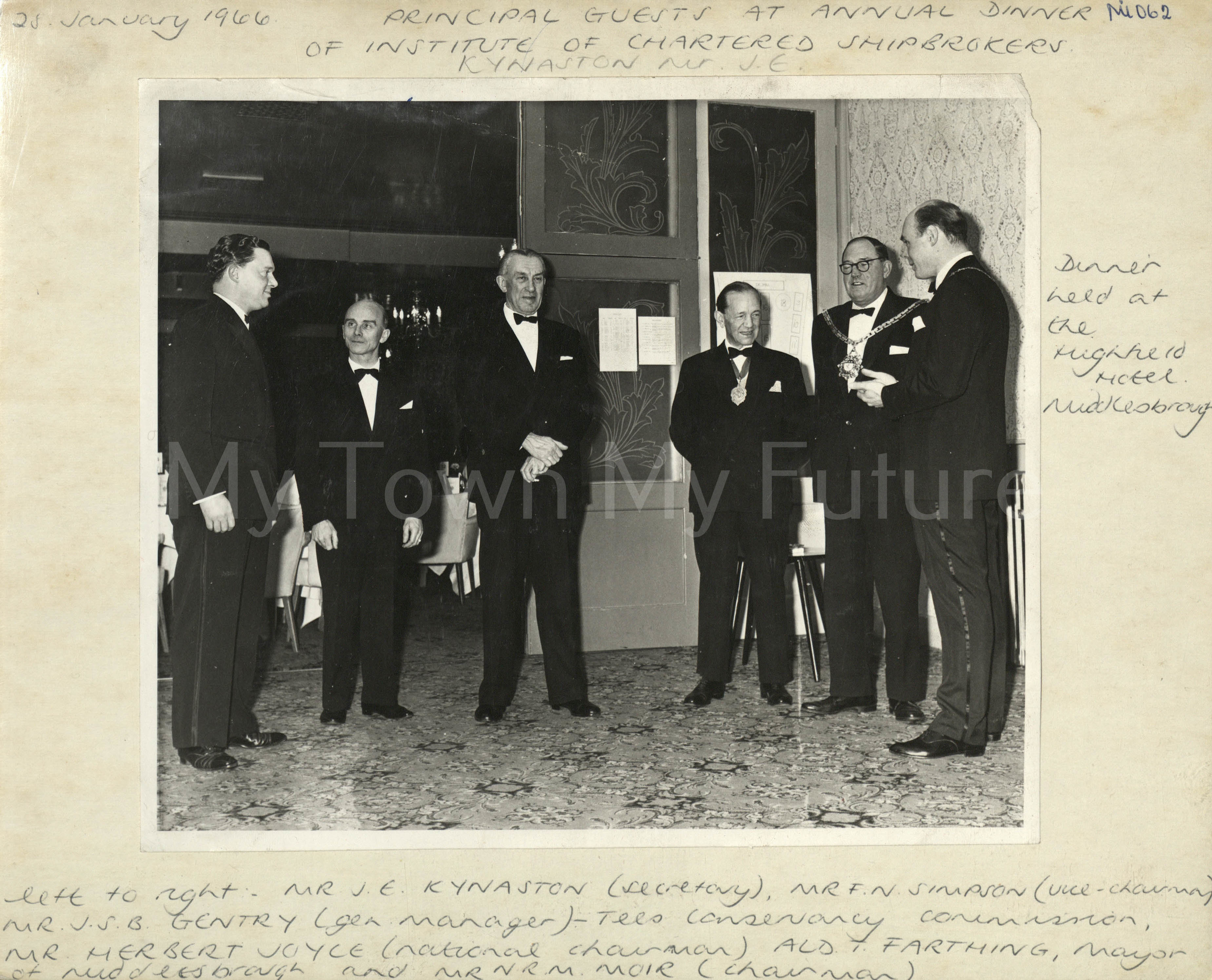 Institute Of Chartered Shipbrokers Annual Dinner, 1966