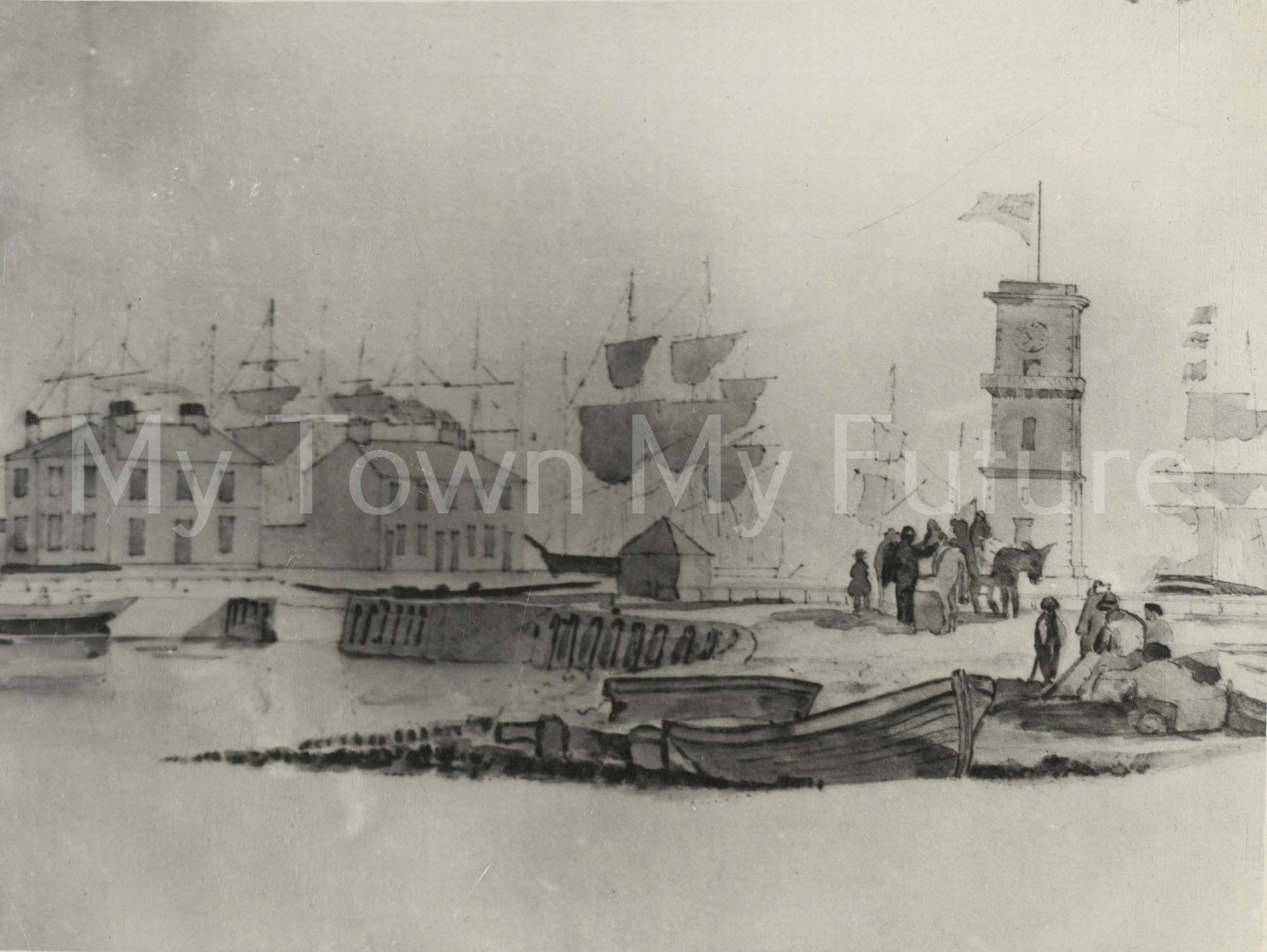 Middlesbrough Docks 1855