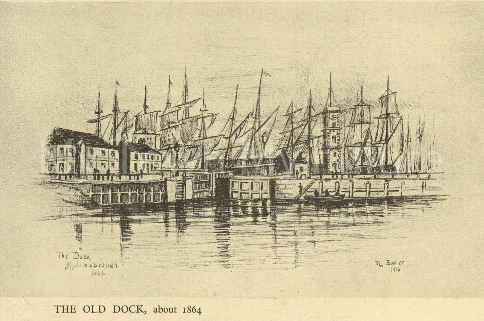 Middlesbrough Docks 1864